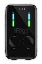 irig pro duo - interface audio e midi iphone ipad android pc