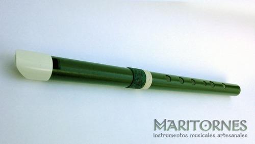 irish whistle en d - re tin whistle flauta celta pvc luthier