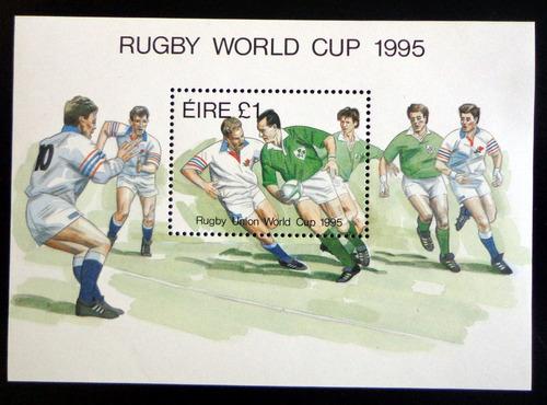 irlanda deportes, bloque sc. 966 mundial rugby 95 mint l8548