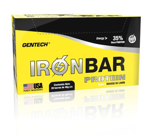 iron bar gentech caja 20 unid barras proteícas sin tacc