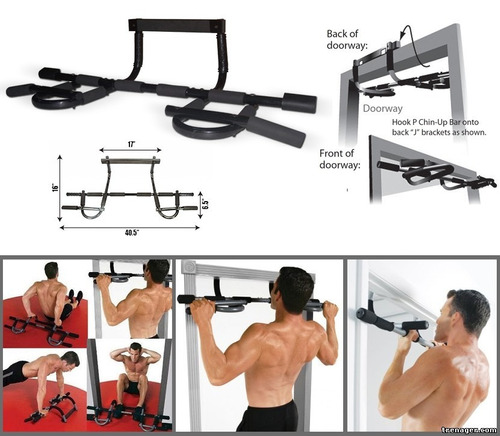 iron door gym xtreme barras de ejercicio puerta **elite