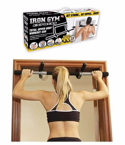 iron gym barra multifuncional biceps gym ejercita brazo