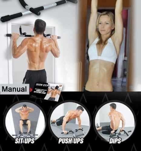 iron gym barra para marco de puerta abdominal dominadas