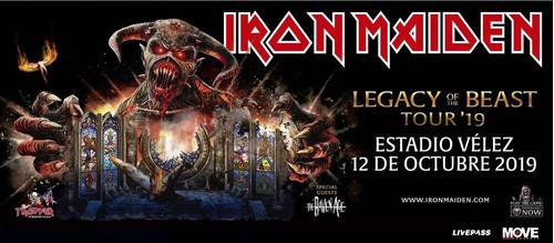 iron maiden - argentina 12 de octubre de 2019 ultimos ticket