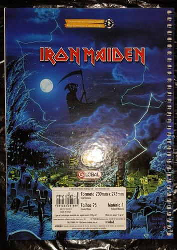 iron maiden - caderno 96 fls capa time