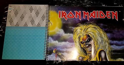 iron maiden - caderno 96 folhas com poster