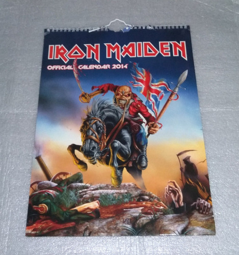 iron maiden calendário 2014, 2015 & 2017 (oficial) perfeito