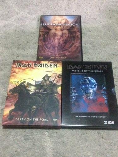 iron maiden, dvds de música