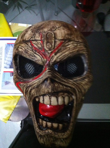 iron maiden eddie mascara perfeita iitem de coleção