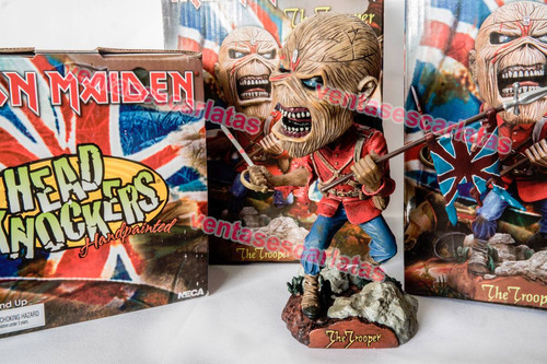 iron maiden eddie the trooper booble head neca 100% original