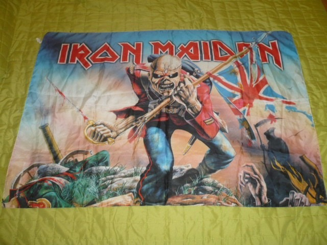 Iron Maiden Eddie The Trooper Poster Banner Flag Ozzyperu