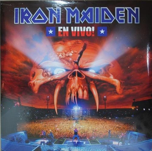 iron maiden - en vivo! vinilo nuevo y sellado obivinilos