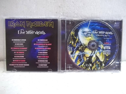 iron maiden live after death world slavery tour 85 cd fret15