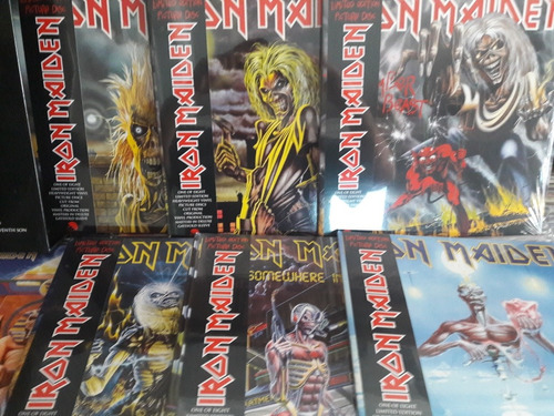 iron maiden picturedisc collection vinil box amolad rocks lp