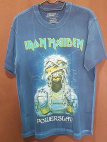 6547587c4e Camiseta Iron Maiden Powerslave - Calçados, Roupas e Bolsas com o Melhores  Preços no Mercado Livre Brasil