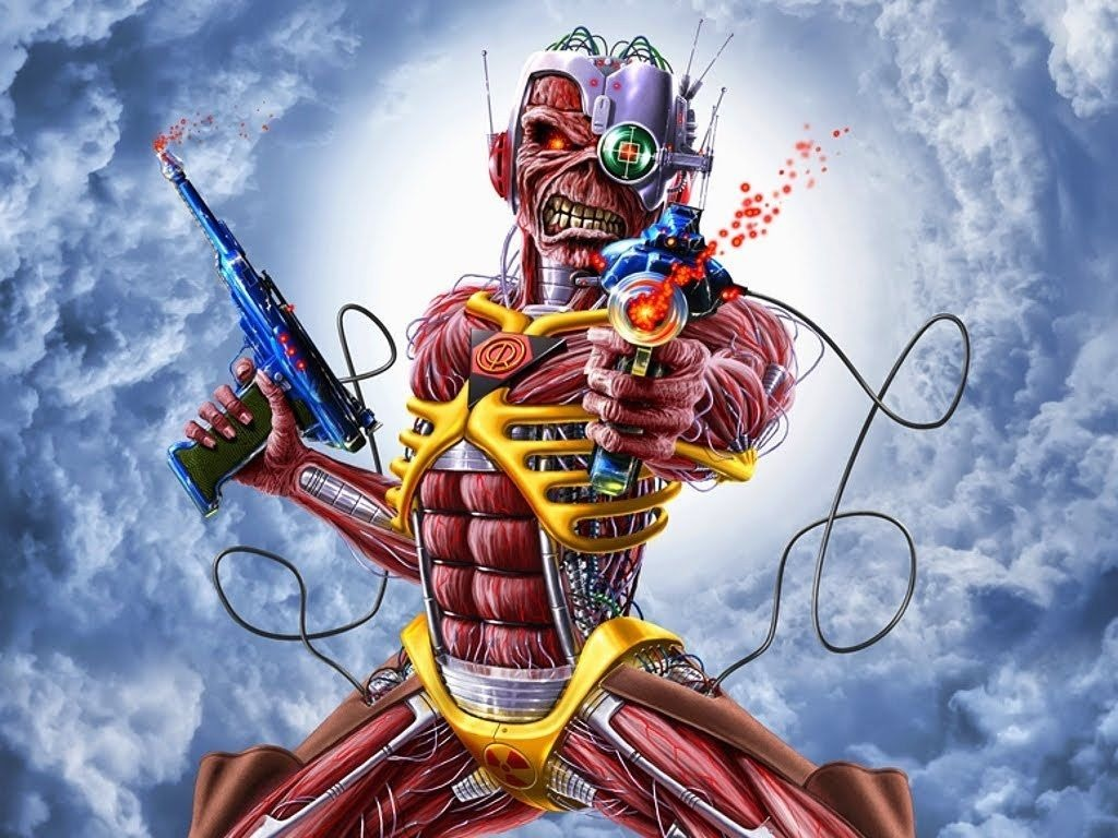 Iron Maiden Somewhere In Time Eddie Mascara Latex Halloween