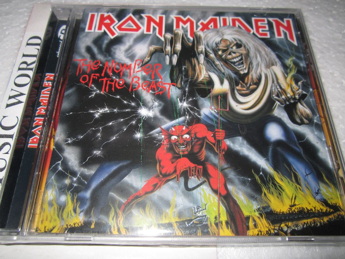 iron maiden the number of the beast cd nuevo sellado 45 000