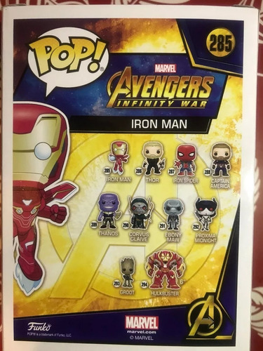 iron man #285 funko pop avengers infinity war