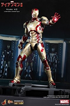 iron man 3 hot toys 1/6 escala de colección diecast figura