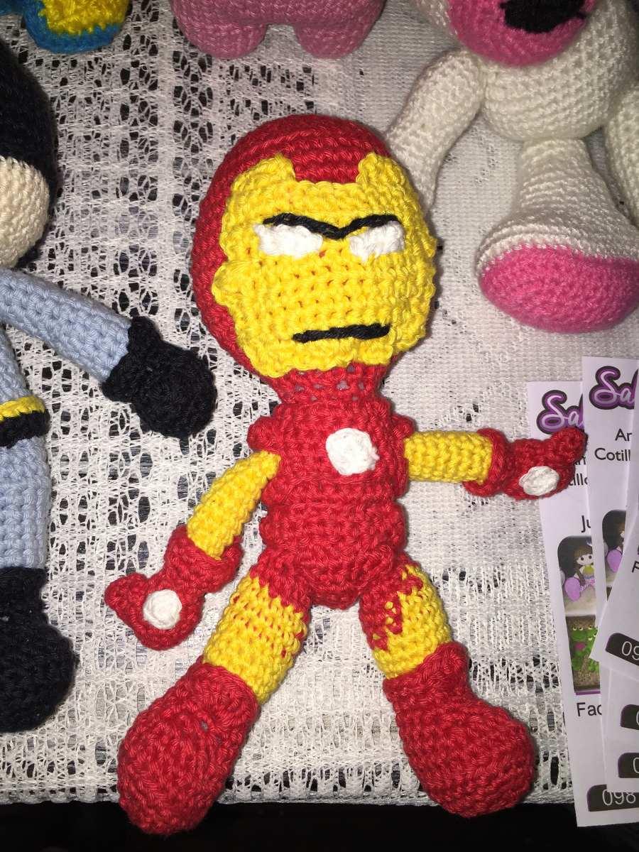 Iron Man Tony Stark crochet amigurumi chibi plush doll Marvel ... | 1200x900