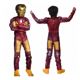 Iron Man Disfraz Niño Vengadores Con Músculos Y Mascara