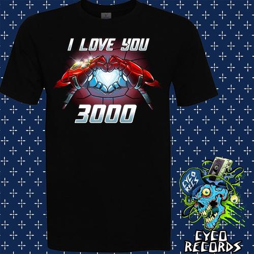iron man - i love you 3000 - peliculas de culto - polera- cy