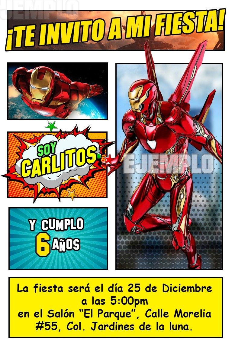 Iron Man Mark 50 Invitacion Digital Comic 36 99 En Mercado Libre