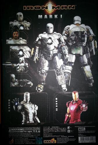 iron man mark i escala 1:6 first version hot toys