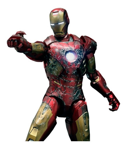 iron man mark vii battle damaged version - hot toys 1:6