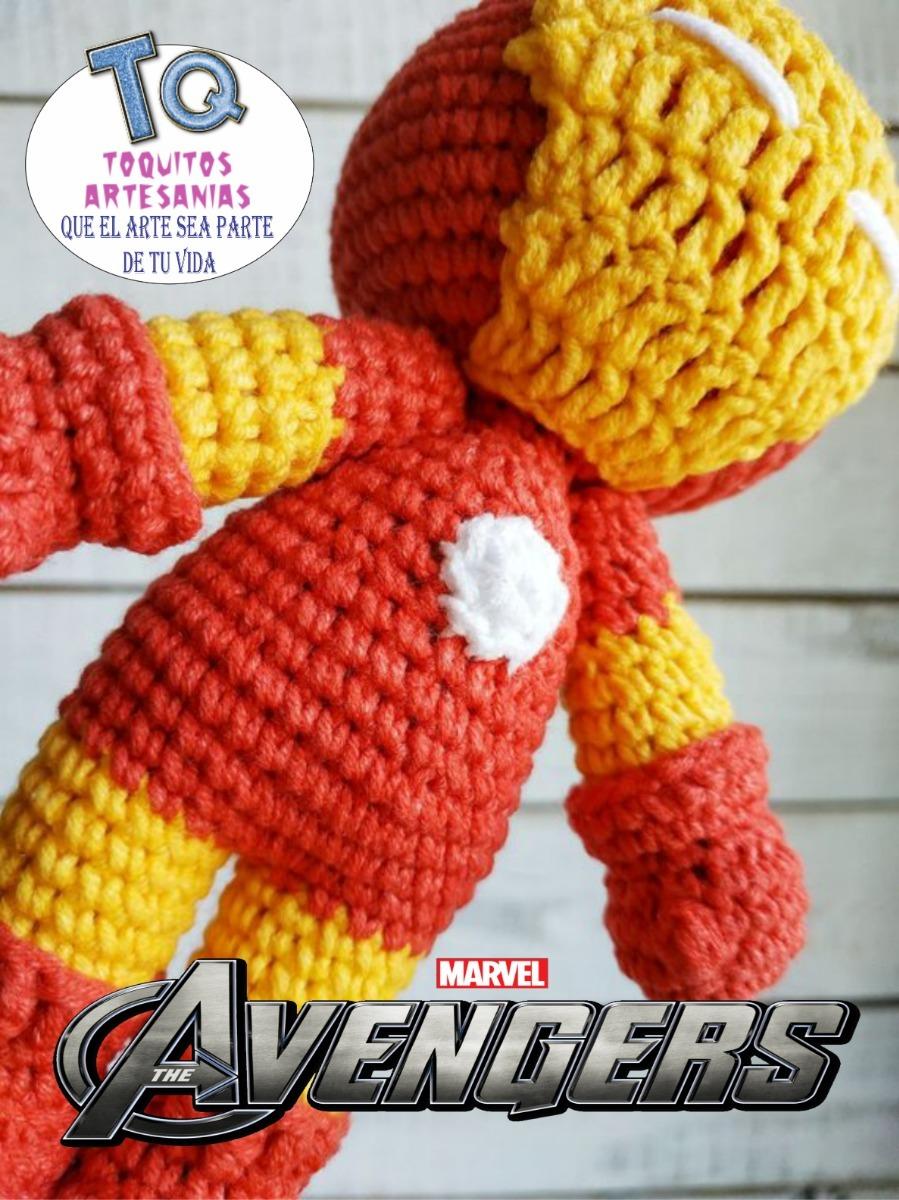 daxa rabalea: Iron Man amigurumi - patrón gratis | 1200x899