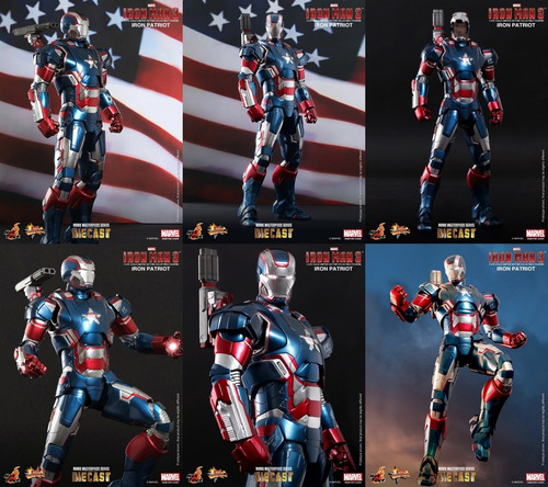 iron patriot hot toys (diecast) 1/6 ironman3 marvel cinemati