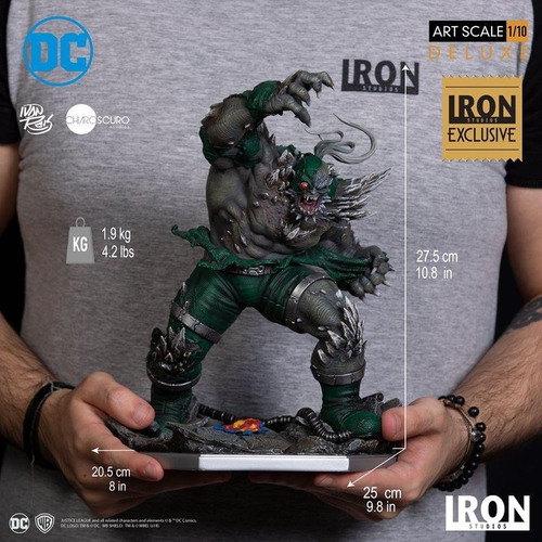 iron studios doomsday exclusive statue