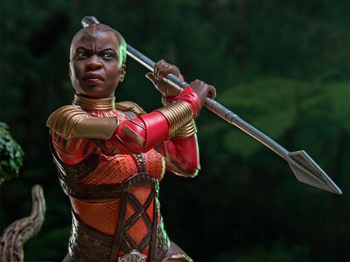 iron studios - okoye - black panther - art scale 1/10