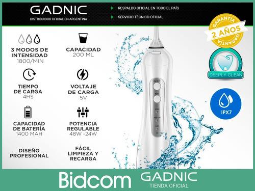 irrigador dental water gadnic recargable 4 puntas blanqueo