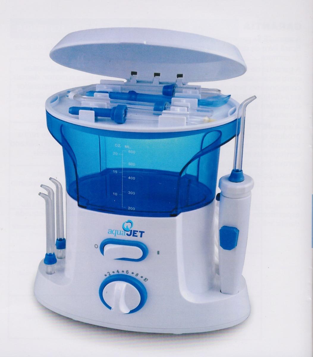 9436d015d Irrigador Oral Aquajet Fio Dental Jato De Água 11 Bicos - R  299