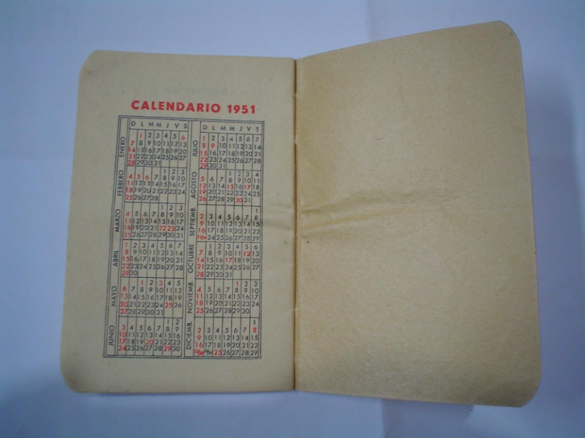 Calendario 1951.Irus Agenda Mensual Diciembre 1951 Almanaque Calendario 99 00