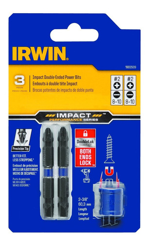 irwin 1903509 impacto rendimiento serie doble -ended destorn