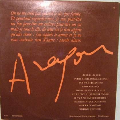 isabelle aubret/jean-louis trintignant - l'amour aragon 1977