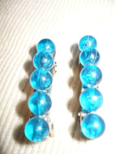 isadora !!! par de hebillas de perlas turquesa , divinas !!!