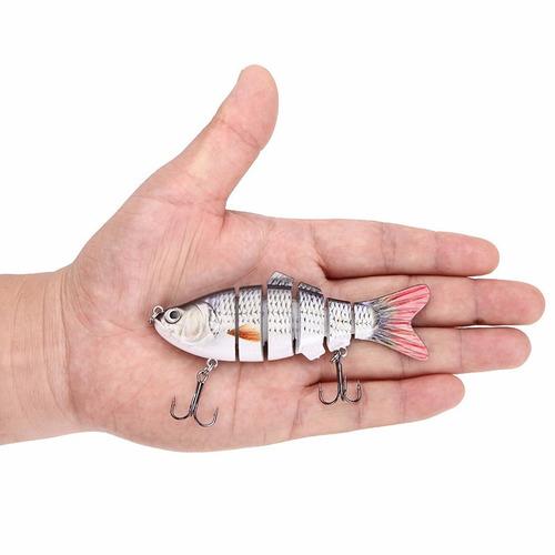 isca articulada 6 sessões artificial lambari - 10cm 18gr