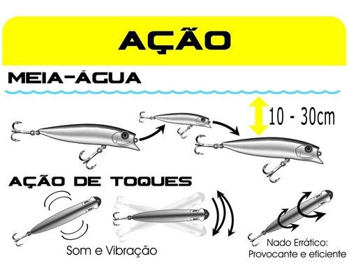 isca artificial marine sports brava 77 para tucunare