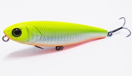 isca jackall bonnie 107 cor: flash chartreuse orange