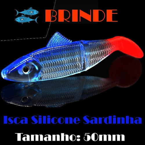 isca silicone lagosta brilha no escuro + brinde
