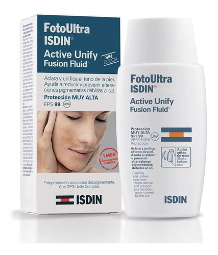 isdin fotoprotector active unify fluid fps 99 sin color
