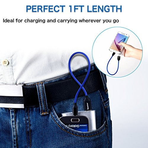 iseekerkit cable micro usb corto de 1 pie