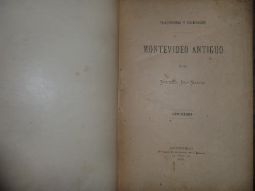 isidoro de maria montevideo antiguo uruguay 4 tomos 1891raro