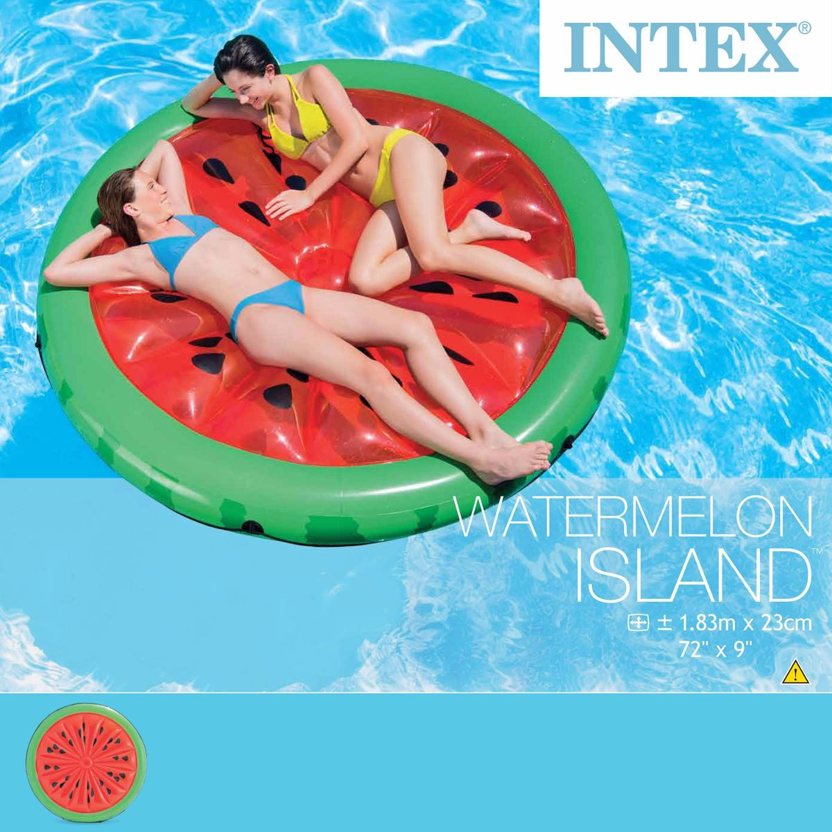 Isla cama flotante inflable de alberca sandia intex m for Albercas intex precios