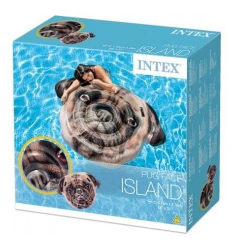 isla flotante cara de cachorro  fotorrealista  intex 58785