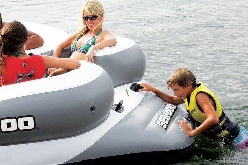 isla flotante trampolín inflable sea doo juegos divercion