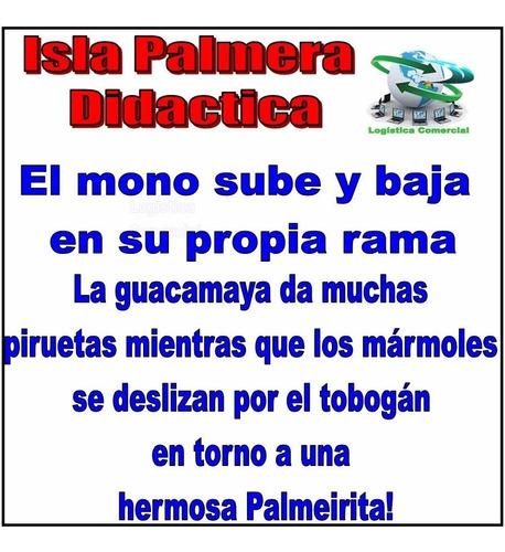 isla palmera interactivo didáctico mono bebe niños